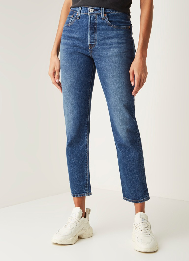 Levi's - 501 High waist straight fit cropped jeans - Indigo
