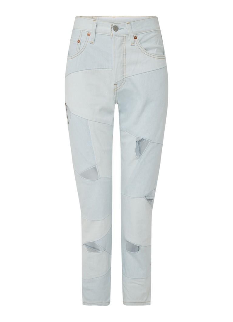Levi's - 501 Pieced high waist straight fit jeans met cut-out detail - Indigo