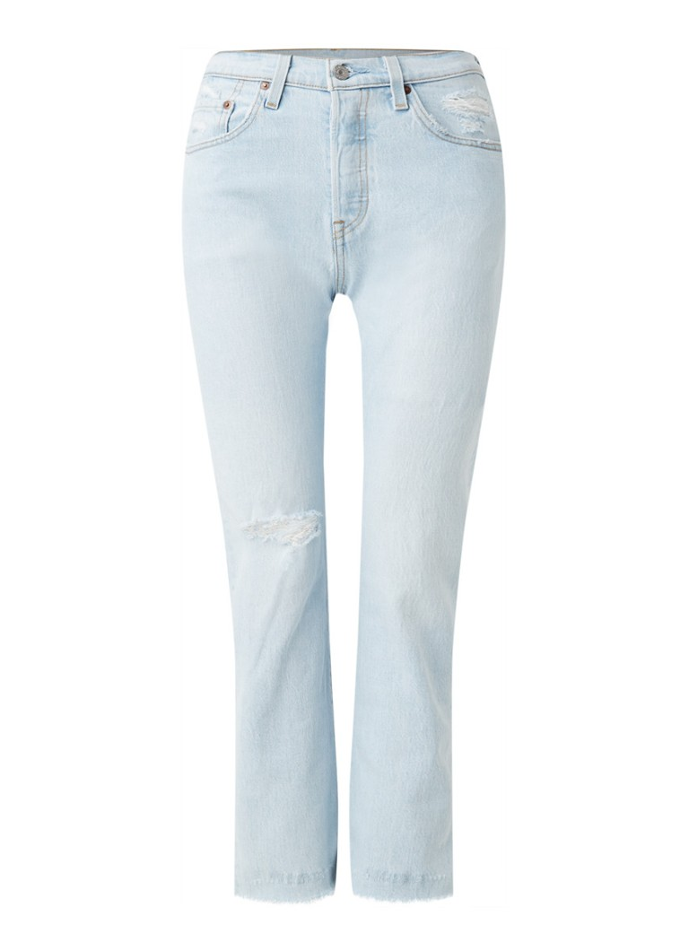 Levi's - 501 Shout Out high waist slim fit cropped jeans  - Indigo