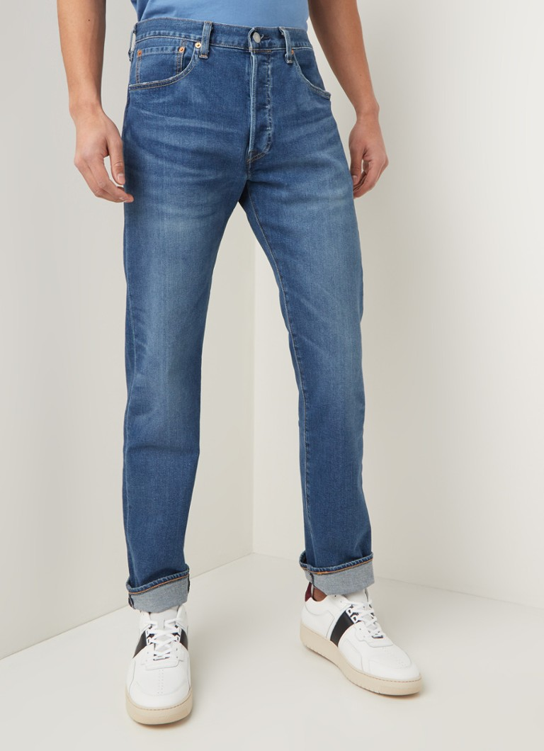 Levi's - 501 slim fit jeans met stretch - Indigo