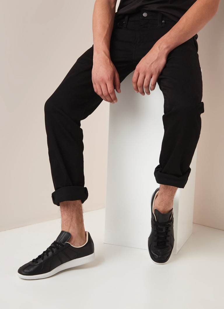 Levi's - 502 tapered fit jeans met stretch - Zwart
