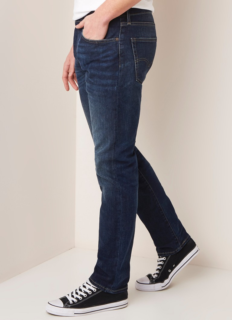 Levi's - 502 tapered fit jeans met stretch - Indigo