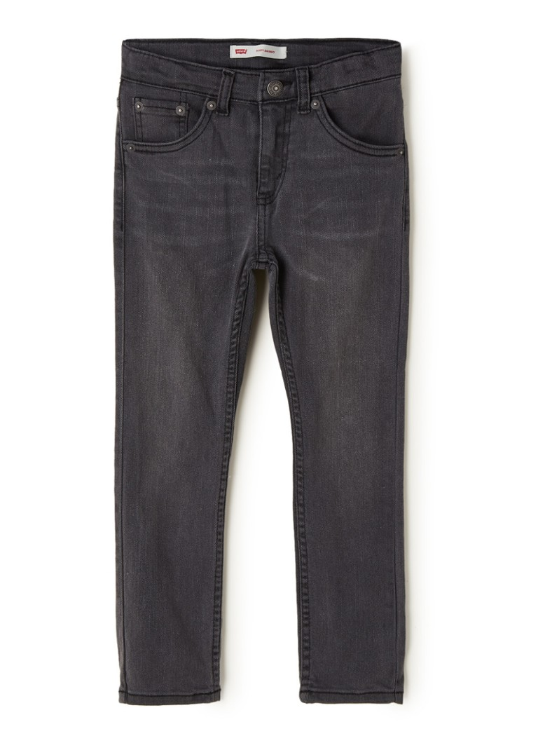 Levi's - 510 skinny fit jeans met stretch - Antraciet