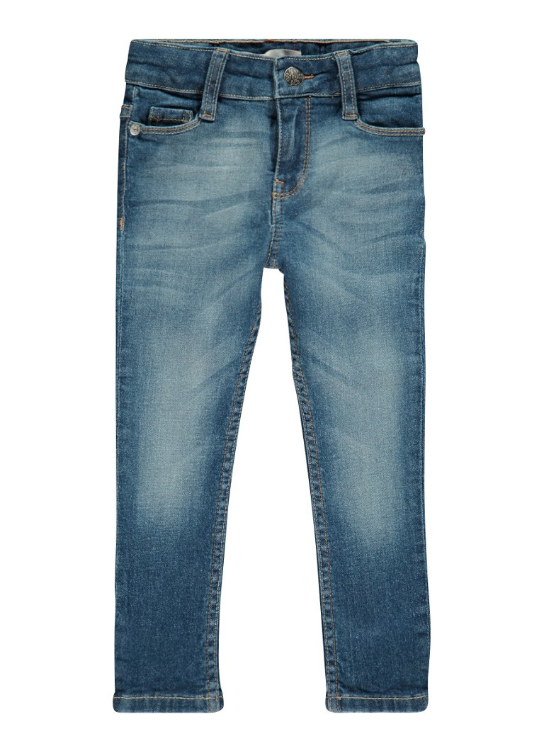 Levi's - 711 Skinny fit jeans met faded look - Indigo
