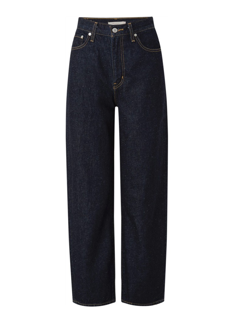 Levi's - Balloon high waist wide fit cropped jeans  - Indigo