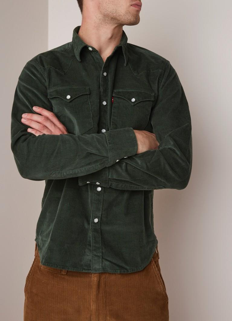 usa goedkope verkoop lage kosten grootste korting Levi's Barstow western overhemd van corduroy met stretch ...