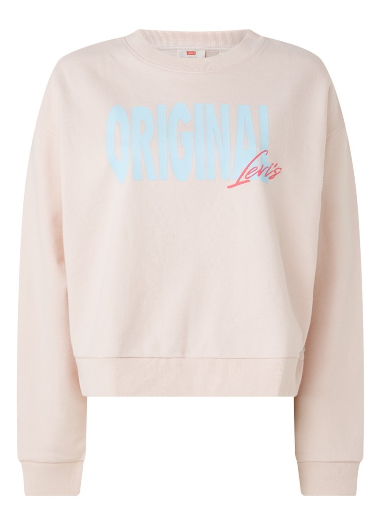 Levi's - Graphic Diana sweater met tekstprint - Lichtroze