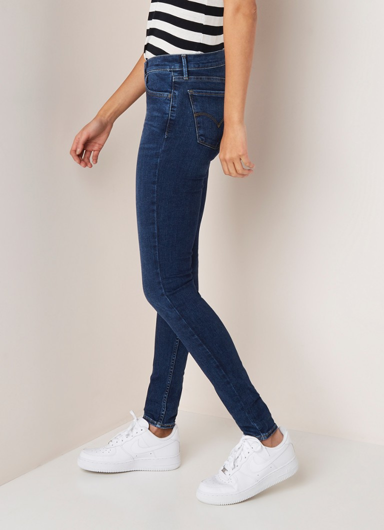 Levi's - Levi's 710 Innovation mid waist super skinny fit jeans - Indigo