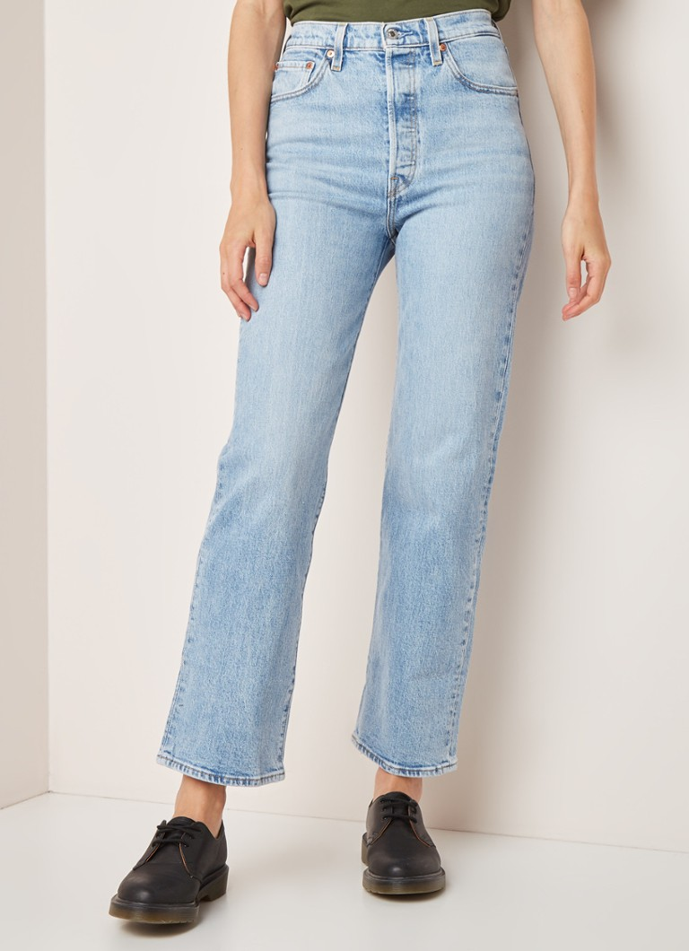 Levi's - Levi's Ribcage high waist straight fit jeans met stretch - Indigo