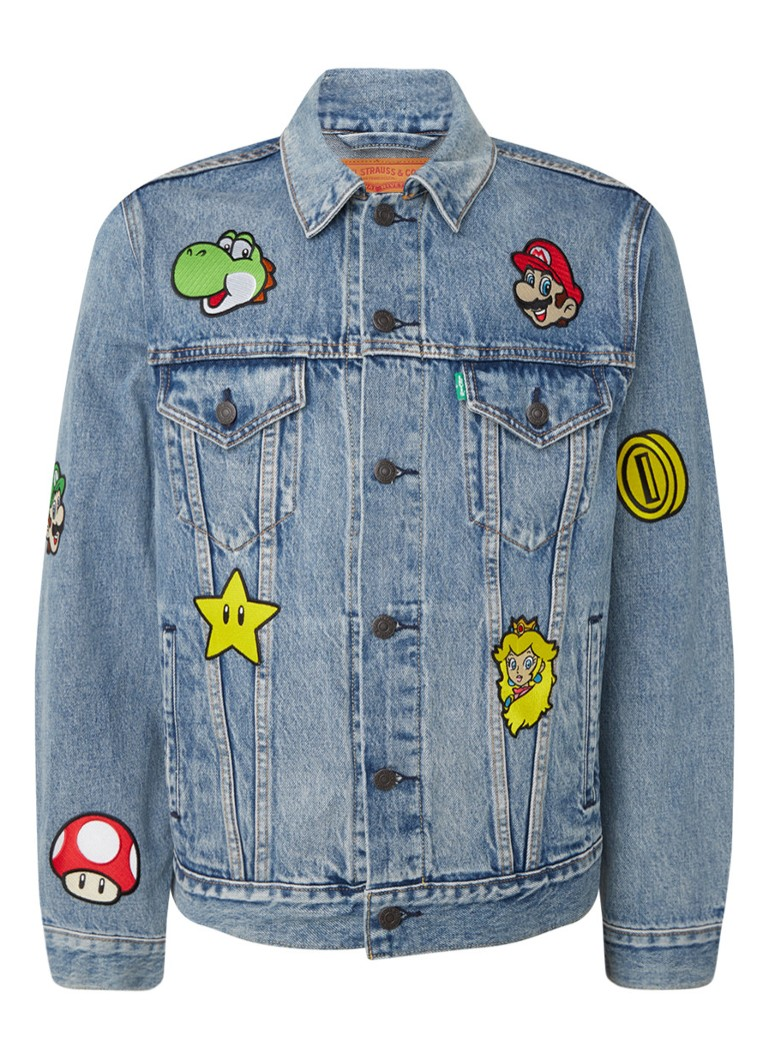 Levi's - Super Mario Vintage Fit Trucker spijkerjas met applicatie - Indigo