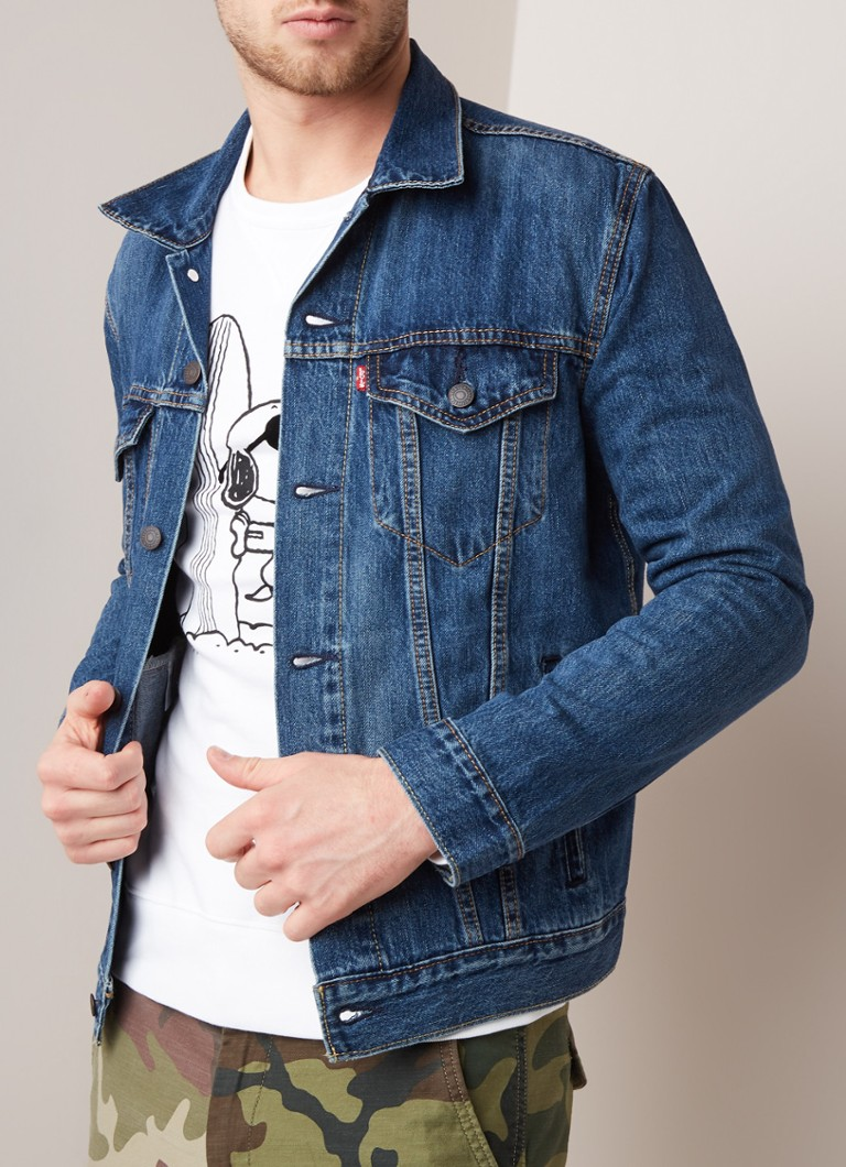 Levi's - The Trucker Jacket denim jack met knoopsluiting - Indigo