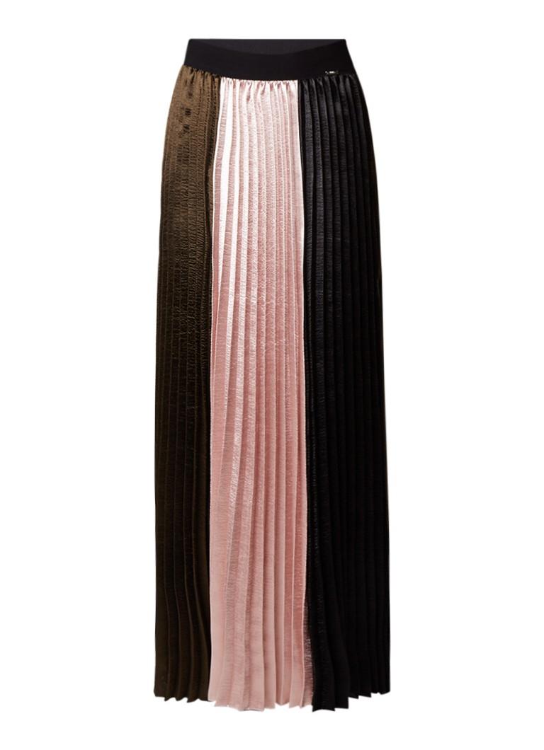 e2679d49a718ce Liu Jo Maxi-rok met plissé en colour blocking • de Bijenkorf