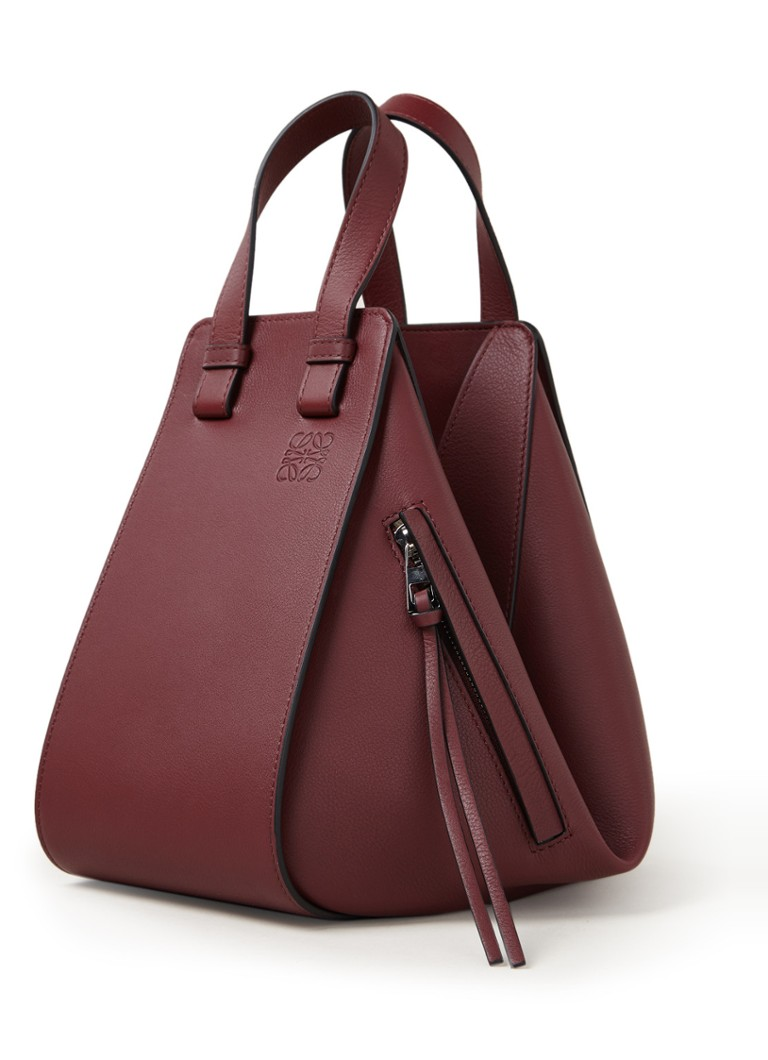 Loewe - Hammock Small calfskin handbag - Bordeaux red