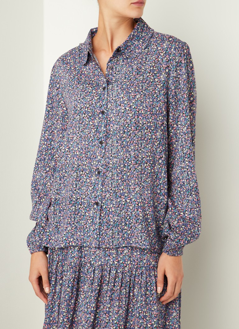 Lollys Laundry - Julie blouse met bloemenprint - Paars