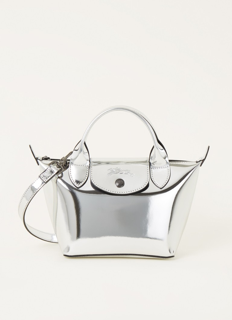 Longchamp - Le Pliage XS handtas met metallic finish - Zilver