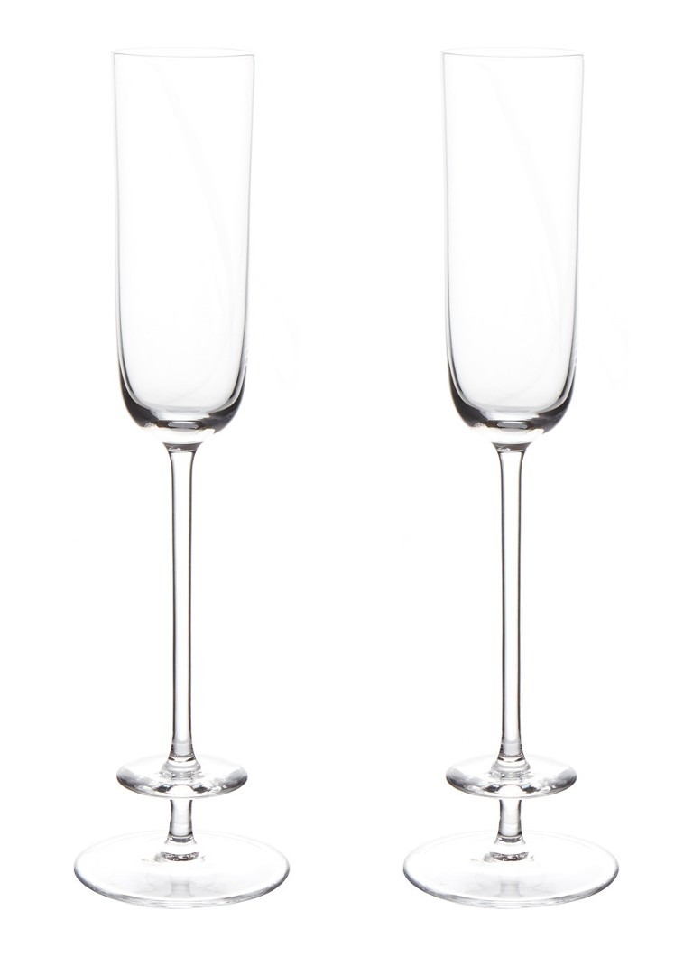 LSA International - Champagne Theatre champagneflute 13 cl set van 2 - Transparant