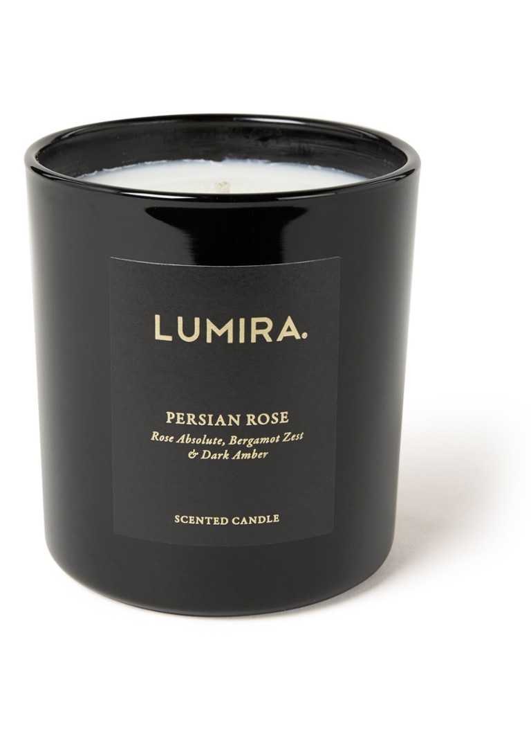 LUMIRA - Persian Rose geurkaars - Zwart