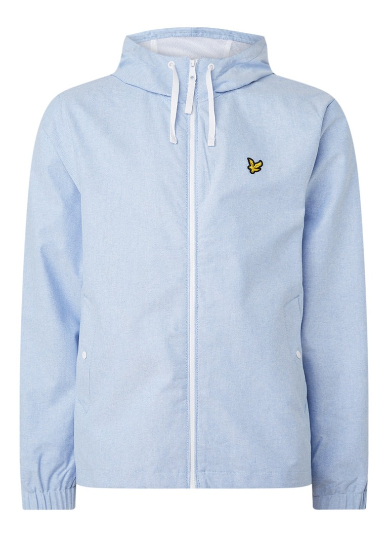 Lyle & Scott - Jack met logo-applicatie en capuchon - Lichtblauw