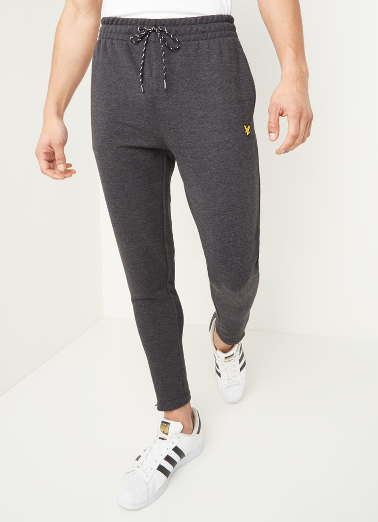 Lyle & Scott - Joggingbroek met enkelritsen - Antraciet