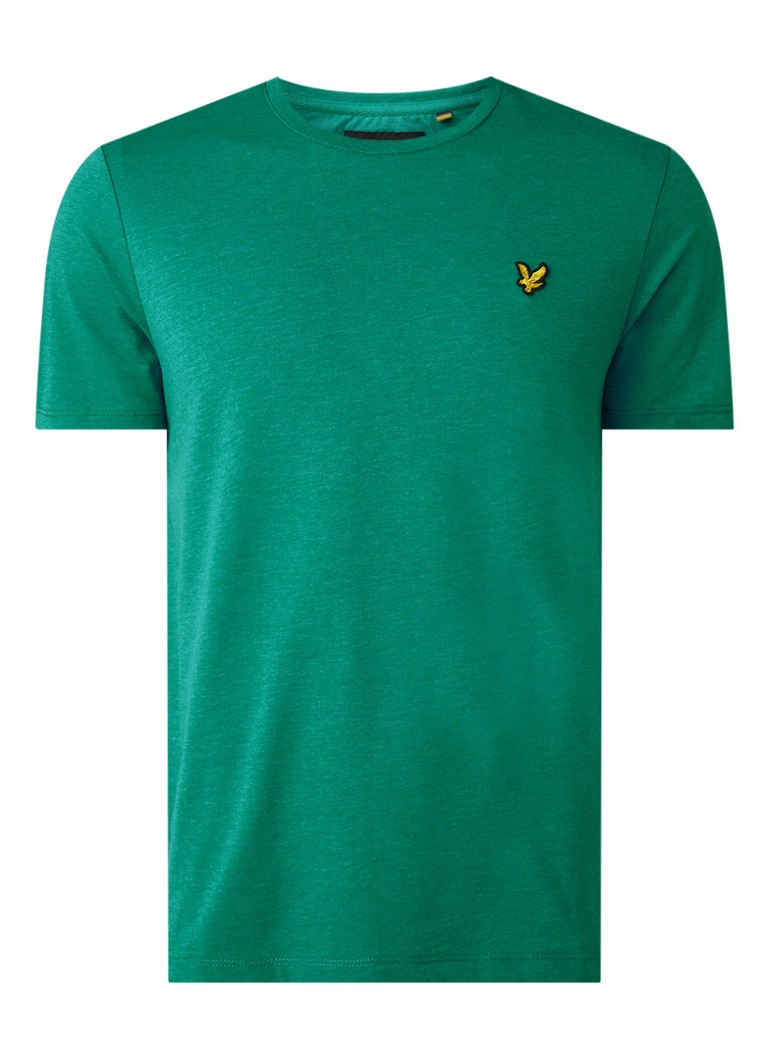 Lyle & Scott - Marl T-shirt met logopatch - Groen
