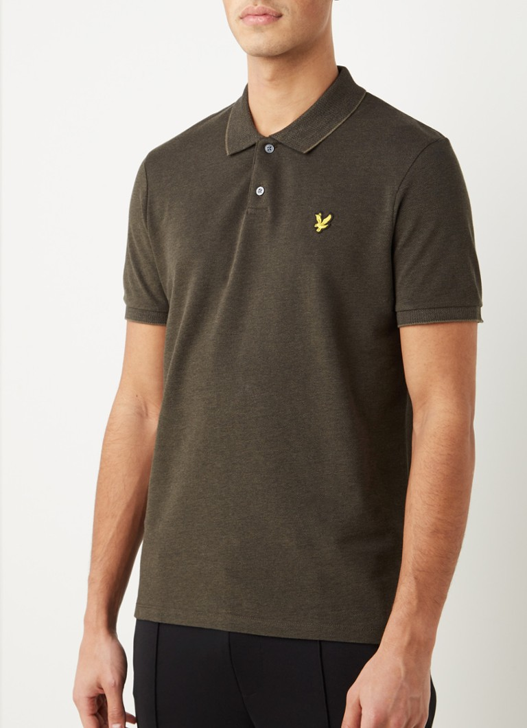 Lyle & Scott - Regular fit polo met logo - Donkergroen