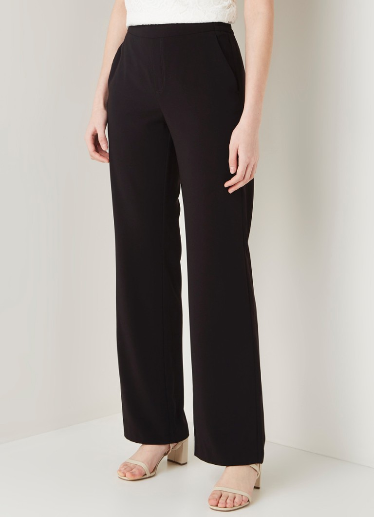 MAC - Chiara high waist loose fit pantalon - Zwart