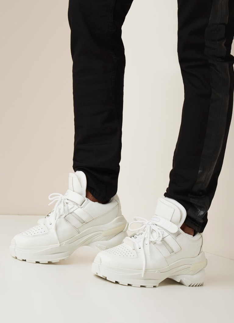Maison Martin Margiela - Artisanal sneaker van leer - Wit - voorkant