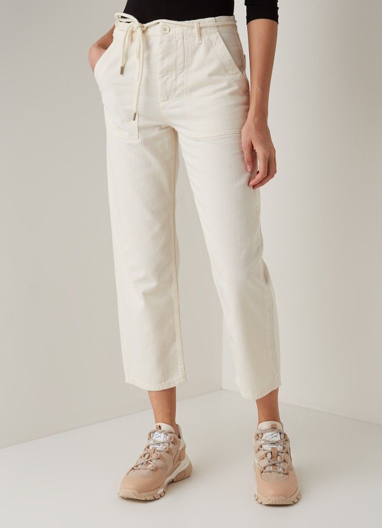 Maje - Piano high waist cropped straight fit jeans - Creme