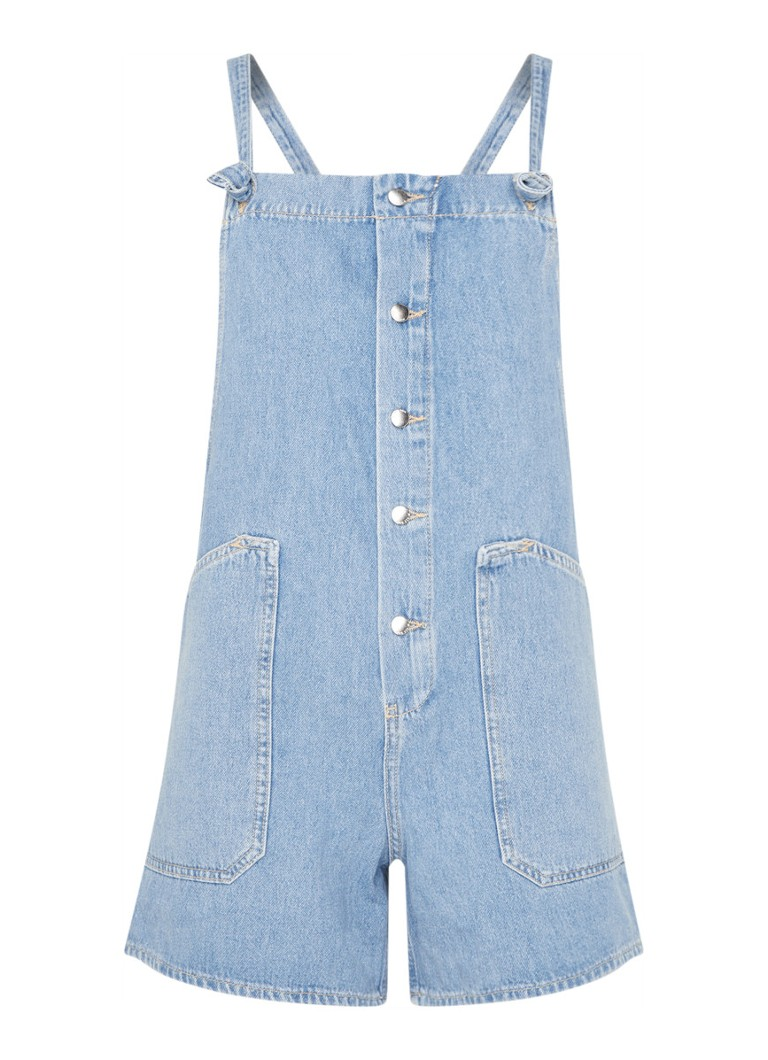 MANGO - Buttons playsuit van denim - Indigo