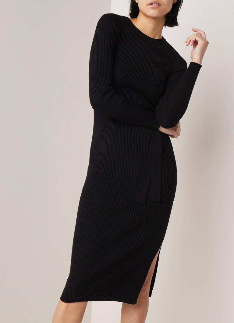 37cc89a787344e MANGO Canaleta ribgebreide jurk • de Bijenkorf