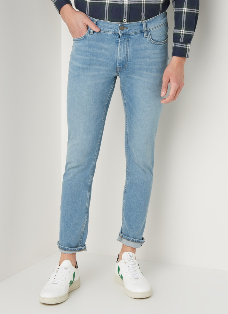 MANGO - Jan slim fit jeans met stretch - Indigo
