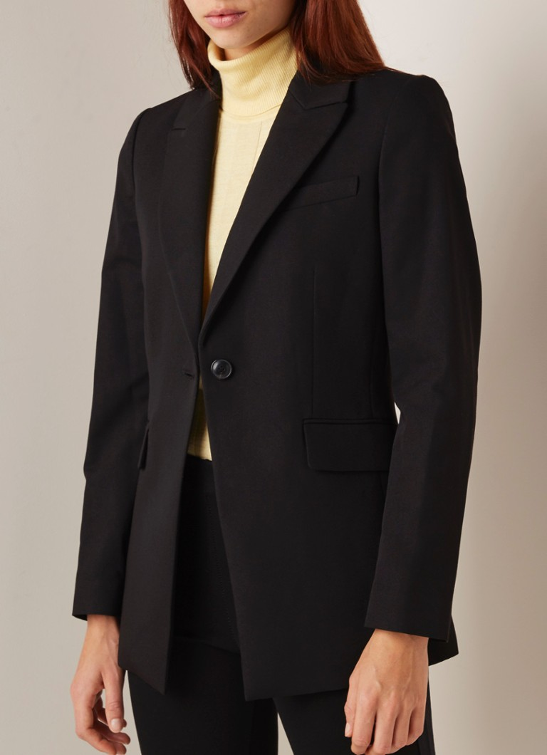MANGO - Office blazer met stretch - Zwart