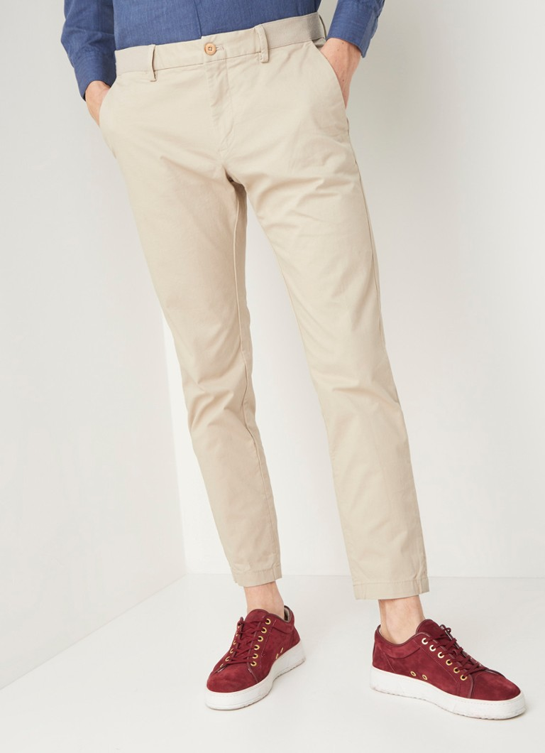 MANGO - Prat tapered fit cropped pantalon - Beige