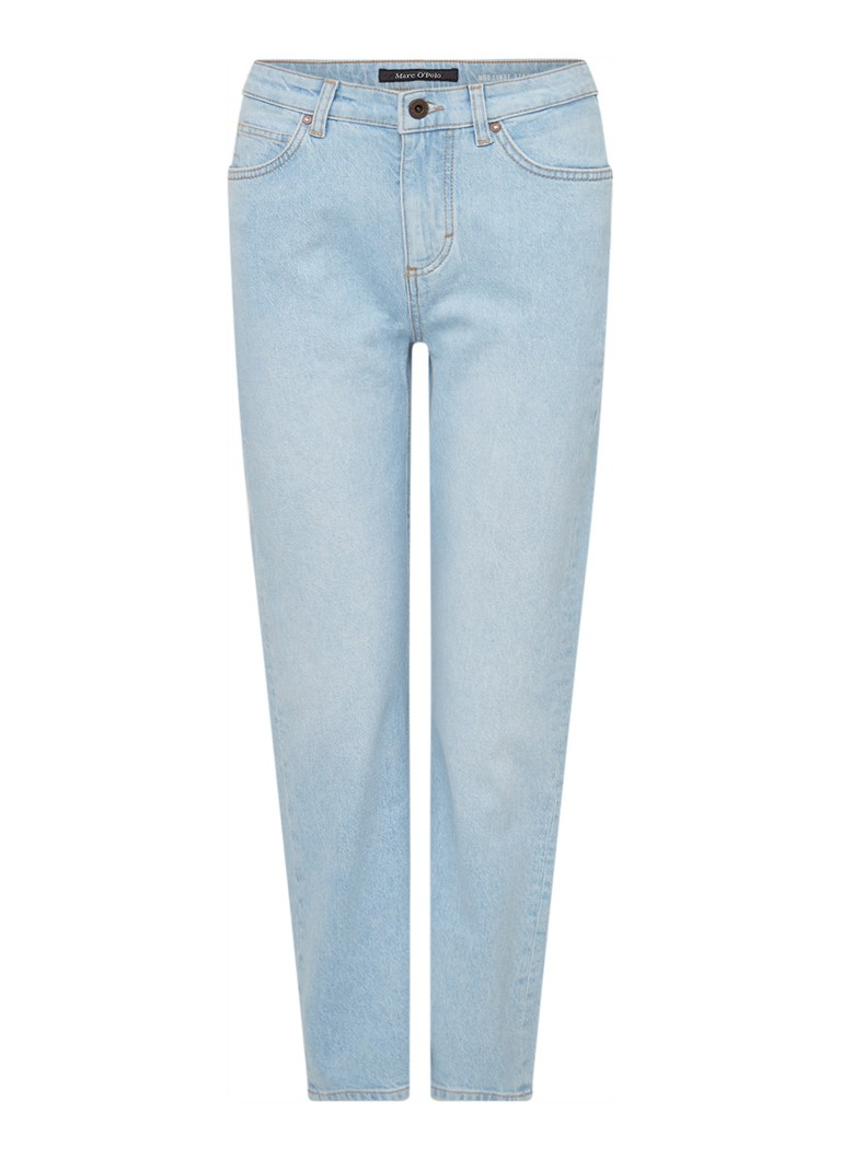 Marc O'Polo - Linde high waist straight fit cropped jeans - Indigo
