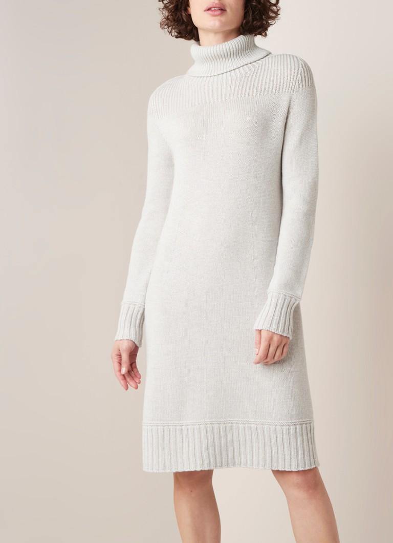 Onwijs MarcCain Grofgebreide trui-jurk van wol met col • Zand • de Bijenkorf XN-91