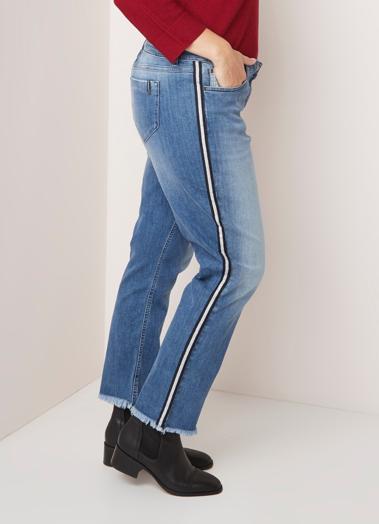 Marina Rinaldi - Griglo Chlaro straight fit 7/8 jeans met contrastbies - Indigo