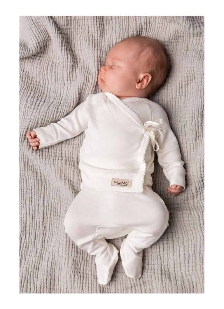 Marmar Copenhagen Pixa Babybroek Met Aangestikte Voetjes Wit De Bijenkorf