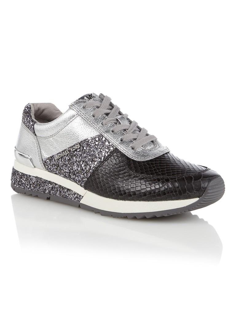 6f4c5e4bd22 Michael Kors Allie sneaker van leer met metallic details • de Bijenkorf