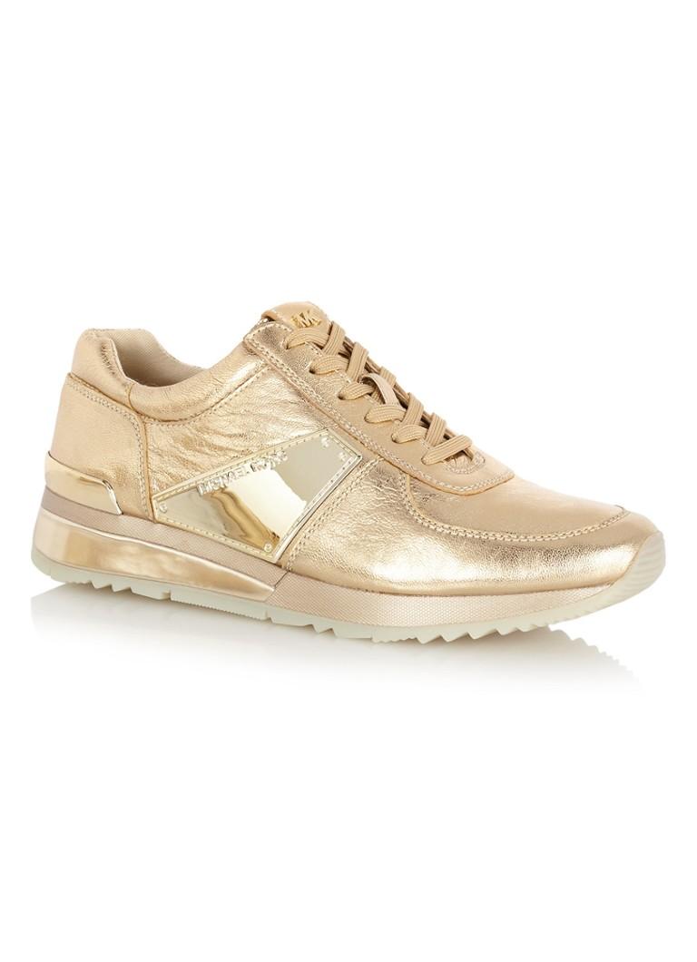 ad78f66f0a8 Michael Kors Allie sneaker van leer met metallic finish • de Bijenkorf