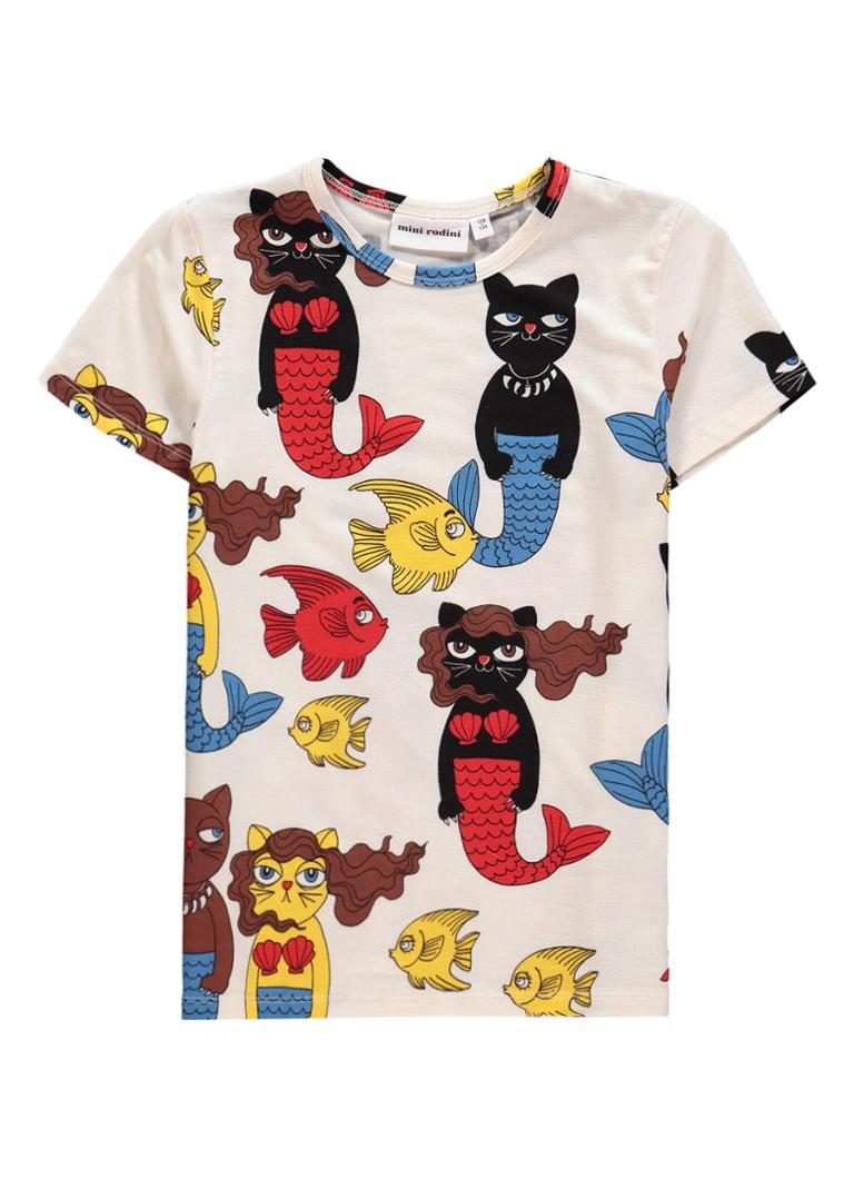 8361cc0809dc59 Mini Rodini Cat T-shirt met dierenprint • de Bijenkorf