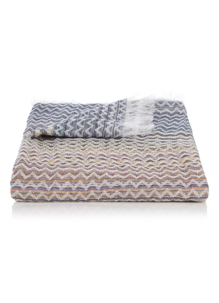 Missoni Home - Simone plaid in linnenblend 100 x 190 cm - Multicolor