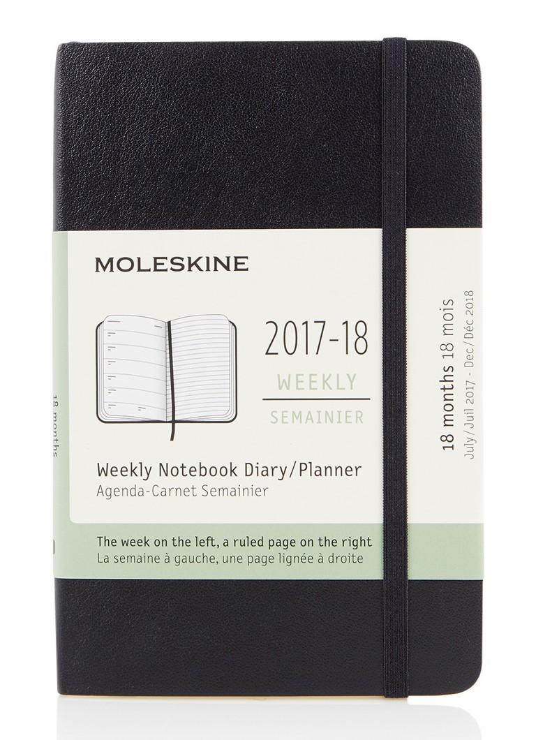 Moleskine mini agenda 2017 2018 de bijenkorf for Agenda moleskine 2016 2017
