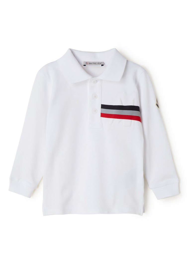 Moncler - Polo met logoprint - Wit