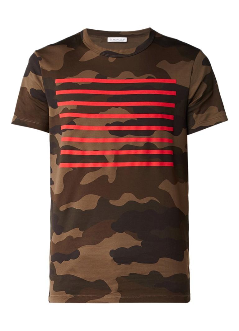 moncler t shirt met camouflageprint de bijenkorf