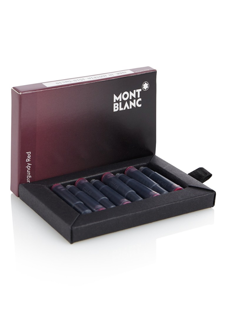 Montblanc - Burgundy Red inktvulling set van 8 - Bordeauxrood