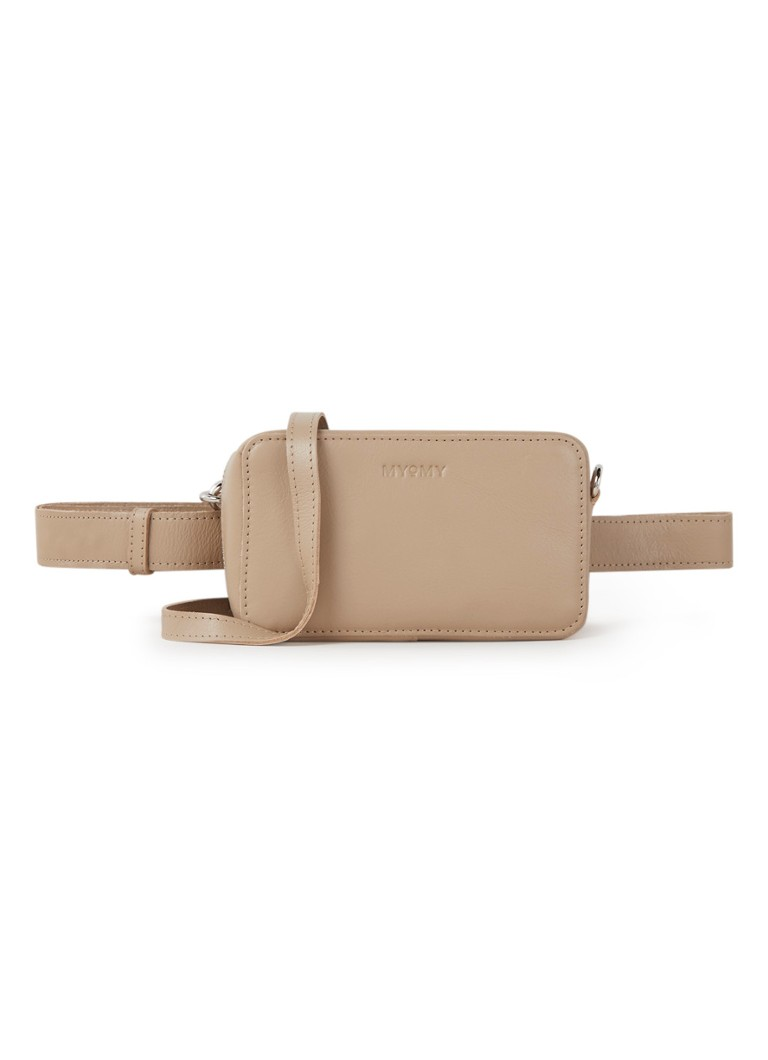 MYOMY - My Boxy Bag crossbodytas van leer - Zand