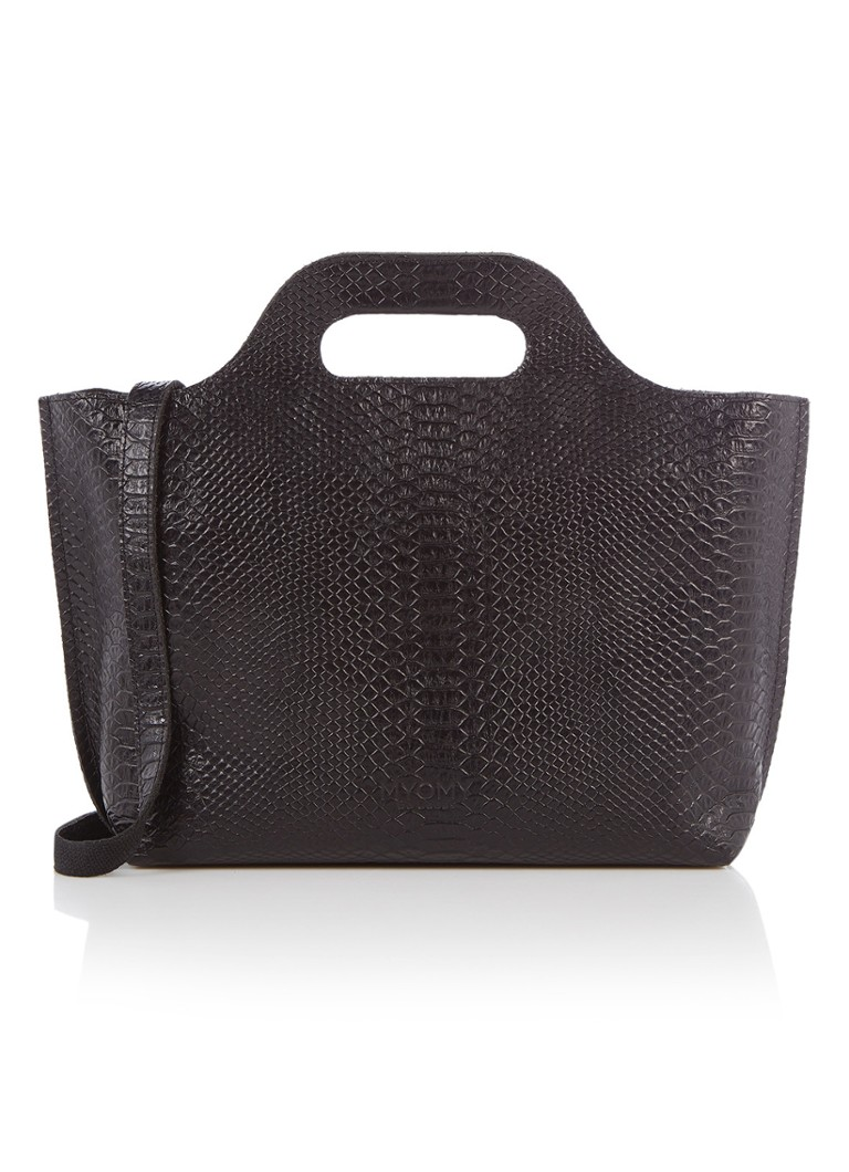 MYOMY - My Carry Bag handtas van leer - Zwart