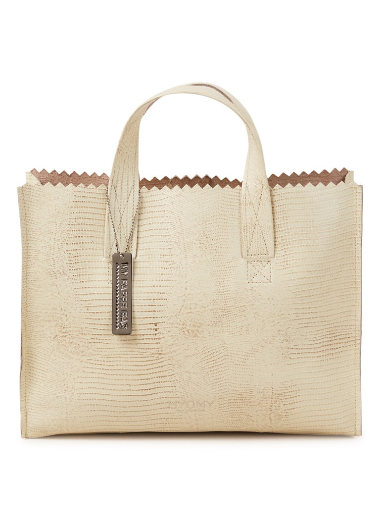 MYOMY - My Paper Bag handtas van leer  - Naturel