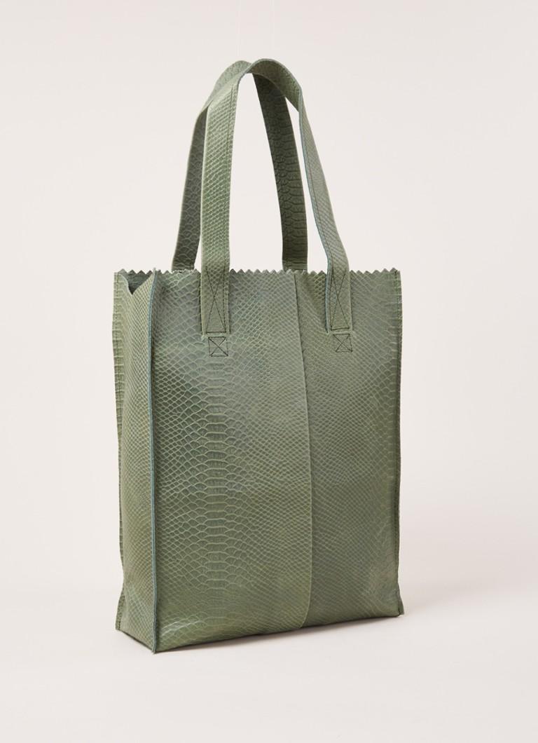 Image of My Paper bag Schoudertas Anaconda - Zeegroen