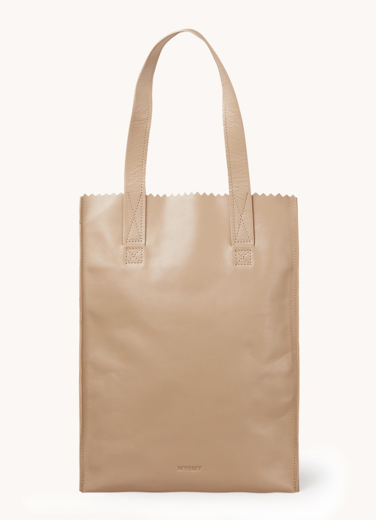 MYOMY - My Paper bag shopper van leer - Beige